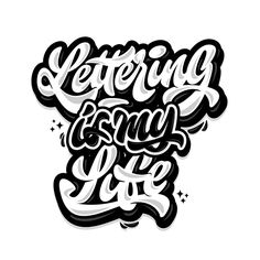 Lettering is my life #typography #gradient #handlettering #lettering #brush #script #handmade #logo #type