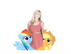 """Ashleigh Ball. Known for voicing """"Rainbow Dash"""" and """"Applejack"""" on""""My Little Pony: Friendship is Magic"""", voicing many characters for the """"Barbie"""" movies, voicing """"Blythe Baxter"""" on """"Littlest Pet Shop"""" and being a vocalist and flautist  for  her band, """"Hey Ocean"""". Am a fan of her work and admire her characters on """"MLP"""" because of their strong feminism and action-packed personalities!"""