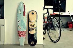 Longboard deck | Design by Sanja Cezek, via Behancehttp://www.behance.net/gallery/Longboard-deck-Design/3901699