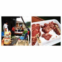 夏を楽しむBBQ☺︎ 友だちが手づくりしたウッドデッキは最高でした♪ お肉は己斐上の名店トラジで持ち帰り注文! 今年は何回BBQできるかな☺︎ #BBQ#バーベキュー#広島に乾杯#KIRIN#グッとくる炭火焼肉トラジ#吉備牛ヒレ#広島牛ロース#肉