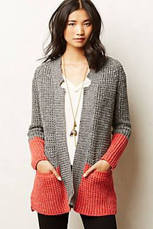 "Colorblock Cardi ""Shop for Colorblock Cardi by Anthropologie at ShopStyle."", ""Colorblock Cardigan by adding another color of knitting add Crochet Clothes, Diy Clothes, Crochet Cardigan, Knit Crochet, Magia Do Crochet, Moda Crochet, Knit Jacket, Knit Fashion, Sweater Outfits"