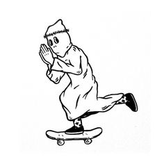 Illustration by adedewo #skate #fun #pray