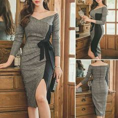 Chic Outfits, Pretty Outfits, Pretty Dresses, Beautiful Dresses, Dress Outfits, Casual Dresses, Short Dresses, Fashion Dresses, Business Casual Attire For Women