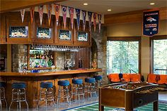 Love this sports inspired bar! Great home on the Spokane river. Coeur D'alene Real Estate
