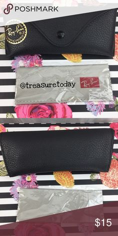 NEW Ray-Ban Black Sunglasses Case New with cloth. Velour lining on the interior. Bundle 2 or more items to get %10 off 💖 Ray-Ban Accessories