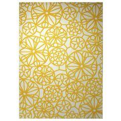 Esprit Society Circle Rug 160x230cm, Yellow