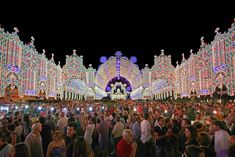Santa Domenica nel Salento festival of light in Scorrano, Province of Lecce, Apulia, between June and July every year to show thanks to the Saint for sparing the town from the plague. #italy #puglia #europe #mediterranean