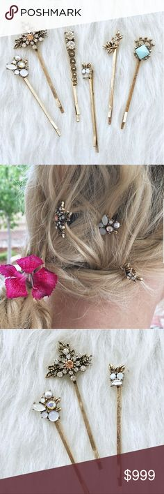 COMING SOON Antiqued gold rhinestone hair pins ❤ Like to be updated upon arrival Accessories Hair Accessories