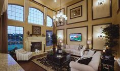 Toll Brothers Vinton Two-Story Family Room