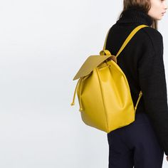 Image 4 of BACKPACK WITH FOLDOVER FLAP from Zara