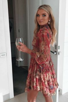 chantelleprice_ is ready for a night out in Zimmerman floral short dress. And what do you choose from their romantic fashion collection for women? Henna Designs, Short Dresses, Prom Dresses, Silk Chiffon, Lace Applique, Dress To Impress, Night Out, Lace Up, Glitter
