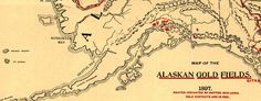 Lee's #Map of the Alaskan gold fields (1897) #Alaska #gold