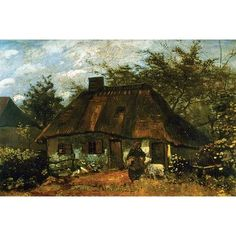 Buyenlarge 'Cottage' by Vincent Van Gogh Painting Print