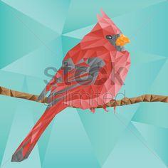 faceted bird Stock Vector
