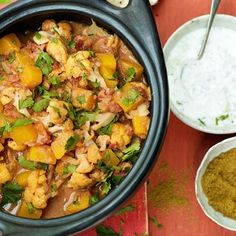 Cauliflower Curry. A comforting vegetarian curry ready in just 35 minutes. Easy recipe ideas from House & Garden.
