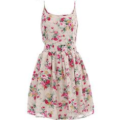 Cream floral cami dress