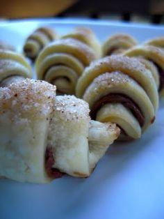 Nutella Pie Crust Crescents