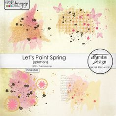 Available for just $1 during Pickleberrypop's PICKLE BARREL PROMO through March 24 at 11:59 p.m. EDT! Shop fast to save BIG! Let's Paint Spring Splatters-Overlays by Tiramisu design