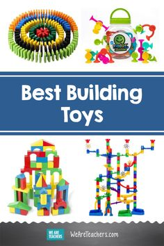 The Best Construction and Building Toys, According to Teachers. Children are natural builders. Encourage their desire to build with these teacher-approved construction and building toys. Play Based Learning, Learning Resources, Student Learning, Discounts For Teachers, Outdoor Learning, Best Teacher, Building Toys, How To Introduce Yourself, Gifts For Kids