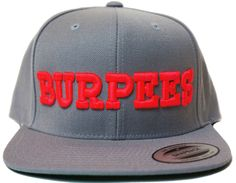 'BURPEES' Snapback Hat - Fluorescent Pink on CrossFit Project X