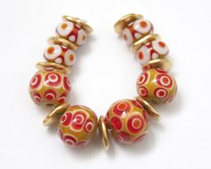 mustard and red by dani cremer on Etsy