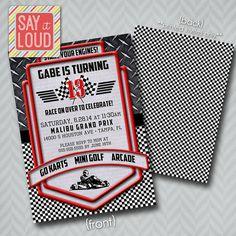 Custom Racing or Go Cart Invitation by SayItLoudDesigns on Etsy