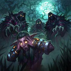 Nightmarish visions - Forces opponent to run from encounter Race Night, Night Elf, Warcraft Art, World Of Warcraft, High Fantasy, Fantasy Art, Warlords Of Draenor, Cartoon Monsters, Samurai Art