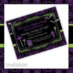 Halloween Invitation . PRINTABLE . Classic Fright ~ $20.00 ~ printable halloween invite, printable halloween invitation, halloween invite, halloween invitation, halloween party, do it yourself halloween, printable halloween, Halloween, scary invitation, Victorian halloween, black & purple invite, black & green invitation #halloweenpartyinvtation #halloweeninvitation #halloweenparty ~ https://www.etsy.com/listing/108295035