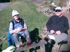 A well-earned rest by two fine friends!