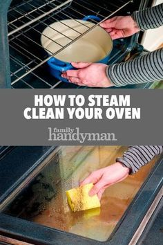 Oven Cleaning Hacks, Diy Home Cleaning, Homemade Cleaning Products, Household Cleaning Tips, Steam Cleaning, Cleaning Recipes, House Cleaning Tips, Natural Cleaning Products, Cleaning Solutions