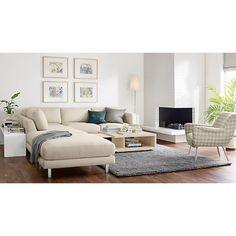 Nichols Chair in Tessell Fabric - Cade Sofa Living Room - Modern Living Room Furniture - Room & Board