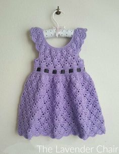 Vintage Rounded Yoke Dress Crochet Pattern - The Lavender Chair