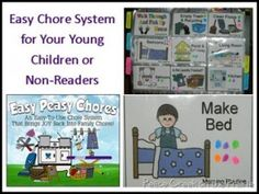 Easy Peasy Chores, a chore system for non readers and the young children in your family.