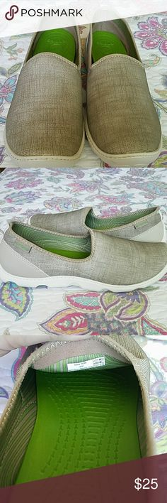 Woman's Crocs Worms Crocs size 10, sage green in color. Worn a couple of times, still in great shape. CROCS Shoes Flats & Loafers