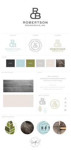 New Brand Launch: Robertson Design/Build - Salted Ink Design Co. #brand #logo