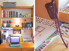 love all the organization in blogger lindsay with the style childs nyu dorm room dorm desk organizationorganization ideasorganizingcollege - Dorm Room Desk Ideas