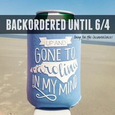 North+Carolina+Koozie+Gone+to+Carolina+UNC+by+ThePinkHousePress,+$5.00