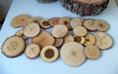 NEW  Wood Buttons  Branch Buttons   25 by forestinspiration, $65.00