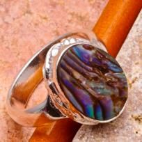 $9.99ABLONE SHELL SILVER PLATED RING SZ 7 $9.99
