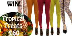Tropical Tuesday!  Repin for the chance to win our TROPICAL TREATS goody bag -   Prizes include a bright pair of summery leggings for each day of the week, worth over £60.