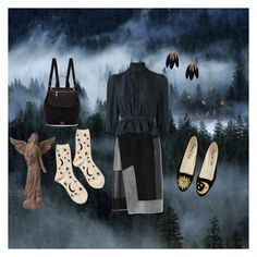 """In the Dark of the Forest"" by harpgoddess on Polyvore featuring Hansel from Basel, Marc Jacobs, Universal Lighting and Decor, Derek Lam and Dsquared2"
