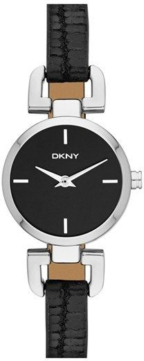 DKNY 'Reade' Round Embossed Leather Strap Watch, 24mm