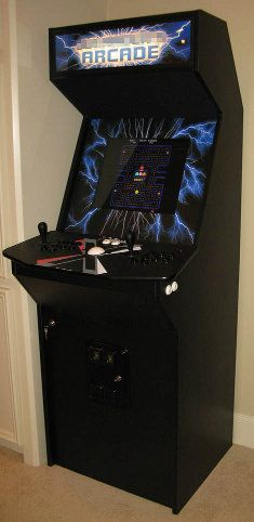 Slim MAME arcade cabinet - must build this one day. | Mame ...