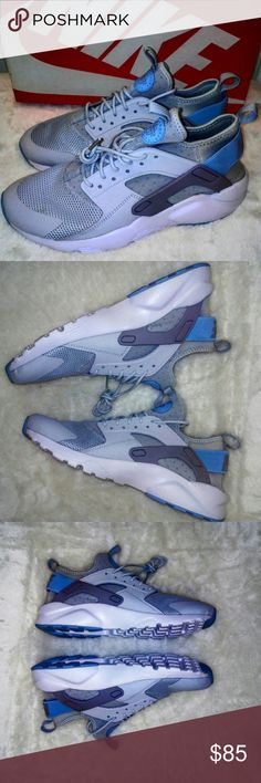 Nike Huarache 7y/8.5 Look at you, all grown up, good hair clean skin, healthy hair and to top it off you've got a great man at home. Off to the spa on a Saturday morning, getting a  relaxing massage. A little tensed up from the hectic work week, but as always you came out on top. As the spa day ends, Husband greets you with a kiss, and prepares a special dinner for you. A special foot rub is in order after dinner. Your  New huaraches slide off effortlessly, as you felt you were walking on…