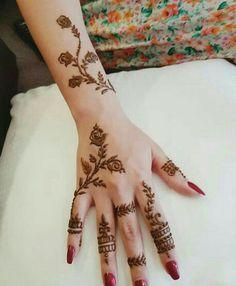 Modern Henna Designs, Henna Designs Feet, Latest Henna Designs, Finger Henna Designs, Mehndi Designs 2018, Mehndi Design Photos, Mehndi Designs For Fingers, Henna Tattoo Designs Simple, Simple Arabic Mehndi Designs