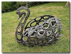 Sculptures from horse shoes
