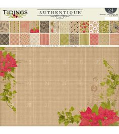 Authentique Paper Tidings 12''X12'' Double-Sided Paper Pad