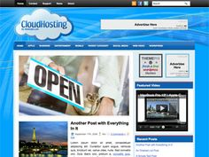 CloudHosting - free 2 columns WordPress