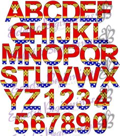 This listing is for one Alphabet Letters Set with the Superhero Theme Wonder…