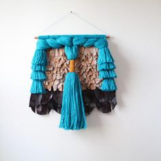 Handwoven Scultpural Wall Hanging  Mixed by SmoothHillsWeaving